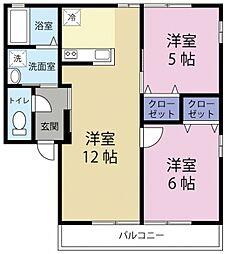 レトアRAINBOW B[2階]の間取り