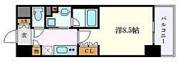 OKBアヴェニール菊井町 10階1Kの間取り
