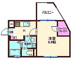 フォルム横浜白楽[102号室]の間取り