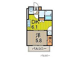 Warabi Moochi[2階]の間取り