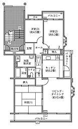 UR千葉ニュータウン プロムナード桜台3番街[2-301号室]の間取り