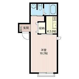 TAKAOカンタービレ成城[1階]の間取り