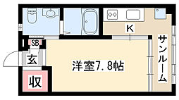 愛知県名古屋市天白区野並1の賃貸アパートの間取り