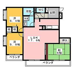 チュリス西静岡 201号室[2階]の間取り
