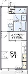 南海線 岡田浦駅 徒歩21分の賃貸アパート 2階1Kの間取り