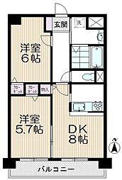 ソレアード武蔵浦和[305号室]の間取り