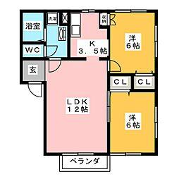 エミネンス[2階]の間取り