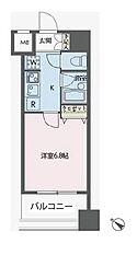 東京都中央区新川1丁目の賃貸マンションの間取り