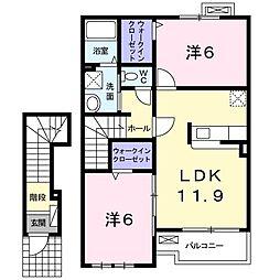 和歌山県和歌山市朝日の賃貸アパートの間取り