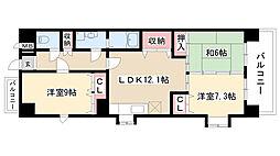 愛知県名古屋市昭和区広見町1丁目の賃貸マンションの間取り