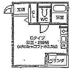 レオン天神橋[2C号室]の間取り