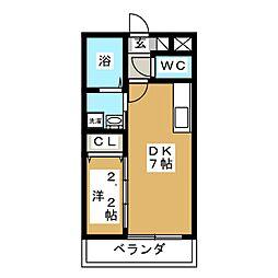 アルバ北仙台[4階]の間取り
