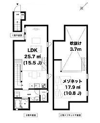 St.Ives渋谷 1階1LDKの間取り