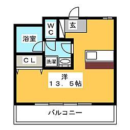 ヨーロピアン祇園[5階]の間取り