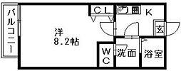 クレフラスト中田町 B[101号室]の間取り