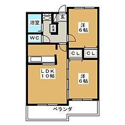 ベルドミール葵21[5階]の間取り