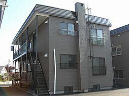 北海道札幌市清田区北野五条3丁目の賃貸アパートの外観