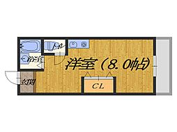 KOEIビル[4B号室]の間取り