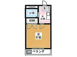 ハイツタカノ[1階]の間取り
