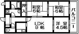 コンフォールセゾン 吉田本町3 吉田5分[3階]の間取り