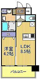 アドバンス大阪ドーム前アヴェニール[10階]の間取り