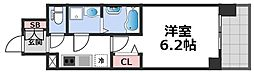 エスリード大阪CENTRAL AVENUE 10階1Kの間取り