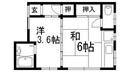 澤田ハイツ[2F号室]の間取り