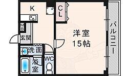 フォレスト・ヒル櫻 3階1Kの間取り