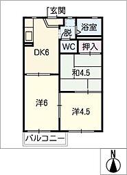 クラリス21[2階]の間取り