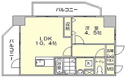HF平尾レジデンス[5階]の間取り