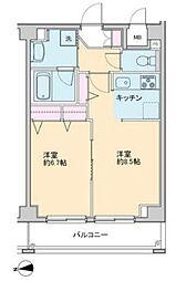 プロッシモ新宿[5階]の間取り