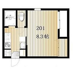 名古屋市営桜通線 桜本町駅 徒歩3分の賃貸アパート 2階1Kの間取り