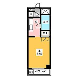 アーバン岡田[1階]の間取り