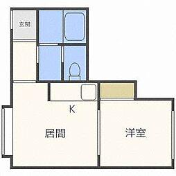 ピュアN11[2階]の間取り