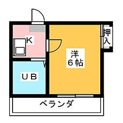 愛知県名古屋市南区曽池町3の賃貸アパートの間取り