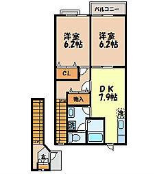 サン・シャルムkiku[2階]の間取り