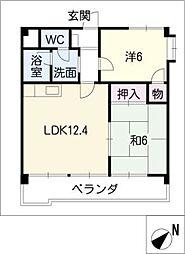 エーデル911[3階]の間取り