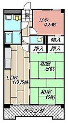 クレベール鷹の巣[2階]の間取り