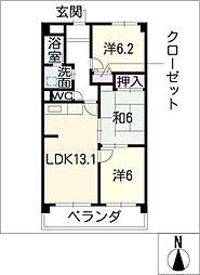 ARIA31 602号室[6階]の間取り