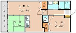 スルス篠栗[4階]の間取り