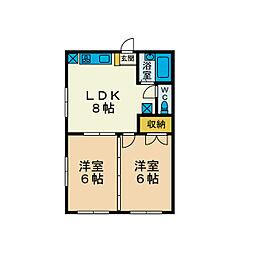 マルキハウス11[2階]の間取り