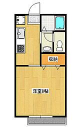 東栄ハイツE[1階]の間取り