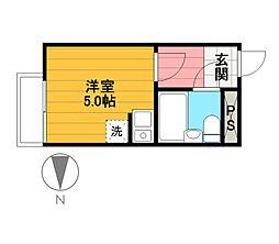 リナマンション[306号室]の間取り