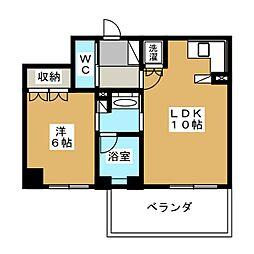 リーガル京都御所東[5階]の間取り
