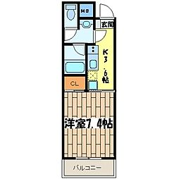 グレース川崎III[402号室]の間取り