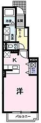ブルックサイドヤブタ B棟[1階]の間取り