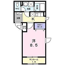 長野県長野市南千歳2丁目の賃貸マンションの間取り