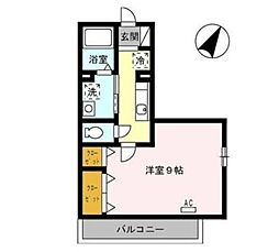 広島県呉市広古新開8丁目の賃貸アパートの間取り