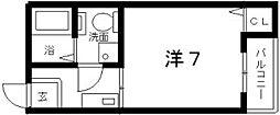 ガーディアンパレス針中野[6階]の間取り