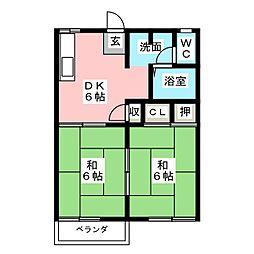 ドミールKUKI[2階]の間取り